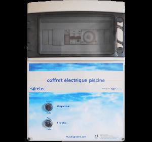 coffret électrique filtration et éclairage pour piscine