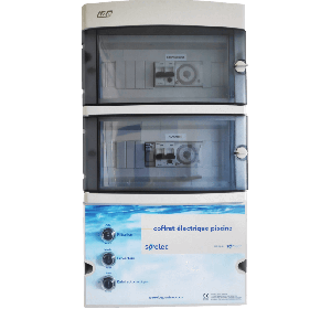 Coffret de filtration + Projecteurs led 100 W + prise balai + disjoncteur 4-6.3 A