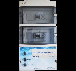 Coffret de filtration + Projecteur 300 W + prise balai + disjoncteur 4-6.3 A