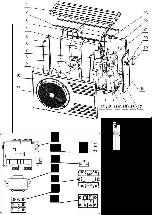 pièces détachées pompe chaleur piscine stelna